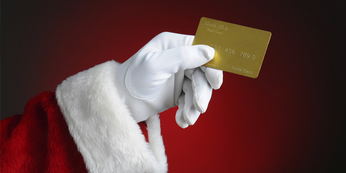 Credit cards and Christmas shopping